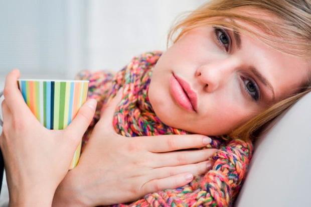 Если у беременной температура и болит горло 28